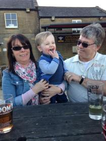 Lincoln with Nanny and Grandad